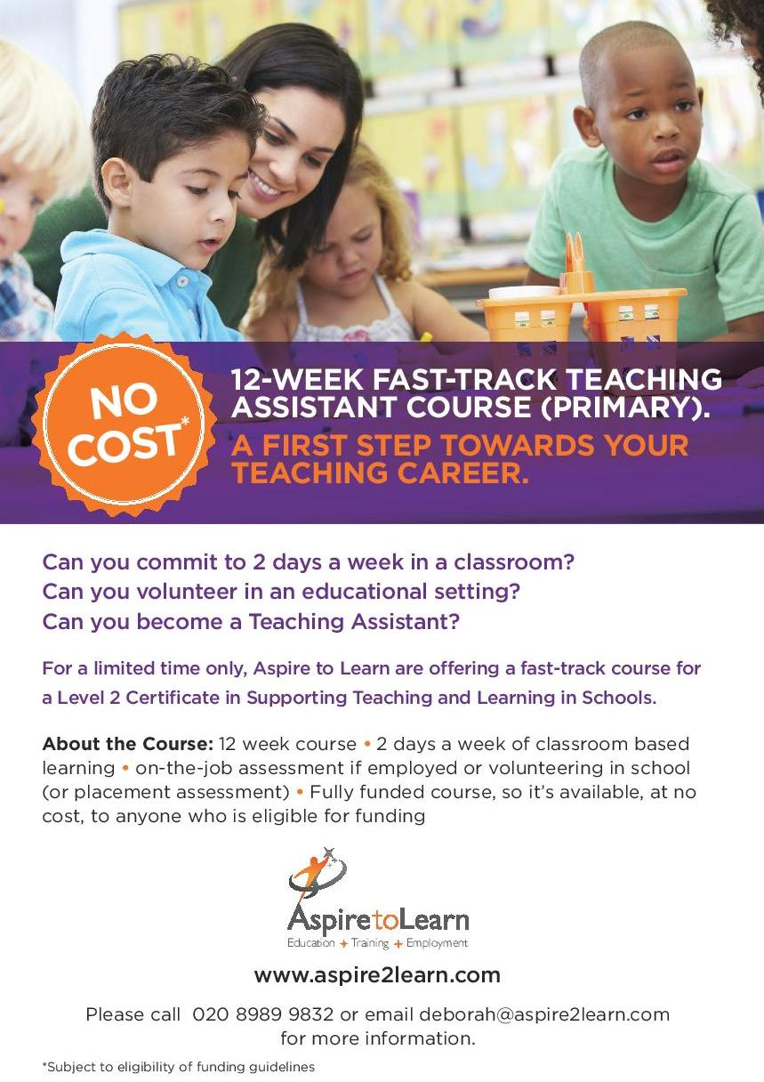 teaching assistant course essay Support staff essential training equality, diversity and inclusion in work with children and young people equality, diversity and inclusion in work with children and.